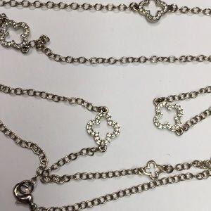 Banana Republic Quatrefoil Clover Diamond Necklace